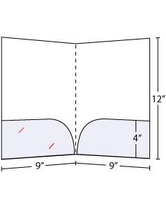 """Curved Pocket Folders 4"""" pockets"""