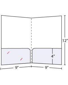 """Semicurved Pocket Folders 4"""" pockets"""