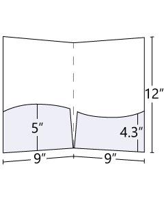 9x12 Wavy Pocket Folders