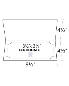 9.5x4.5 Small Certificate Folders