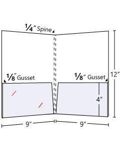 Pocket Folder ¼'' Spine Capacity + ⅛'' Gusset On Two Pockets