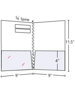 9x11.5 3 Score Spine Folder w/ Windows
