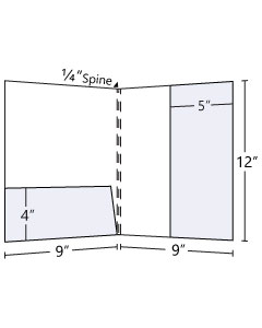 9x12 Right Lateral + Horizontal Pocket Folder (3 Scored Spine)