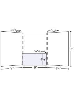9x12 Gusset Tri - Panel Pocket Folder - 1 Center Pocket