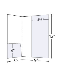 9x12 Folder with Small & Lateral Pocket