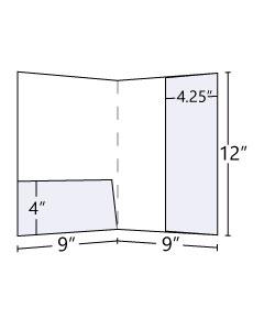 "9x12 4.25"" Right Vertical + 4"" Horizontal Pocket Folder"