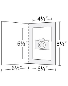 6.5 x 8.5 Vertical Photo Folder