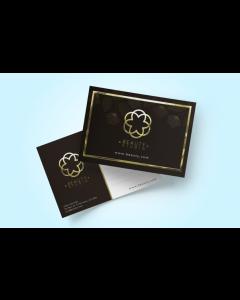 Postcards - Soft Touch Matte Lamination + Raised Metallic Foil