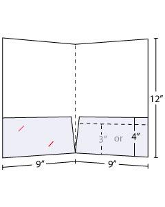 9x12 Pocket Folder Standard 130lb Uncoated Cover