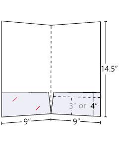 Pocket Folder Legal 14pt Gloss Cover C2S 9x14.50