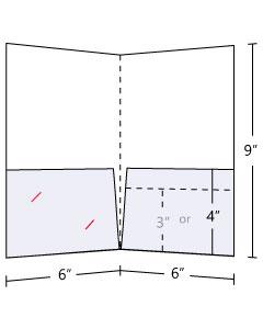 Pocket Folder Standard 14pt Gloss Cover C2S 6x9