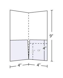 Pocket Folder Standard 14pt Gloss Cover C2S 4x9