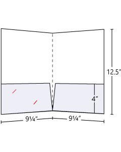 9.25x12.5 Pocket Folders 14pt Gloss Cover