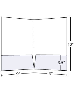 9x12 Pocket Folder with 3.5 inch pockets