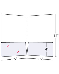 9.5x12 Pocket Folder