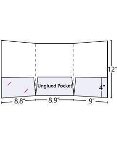 Tri-Panel Pocket Folder with 3 pockets
