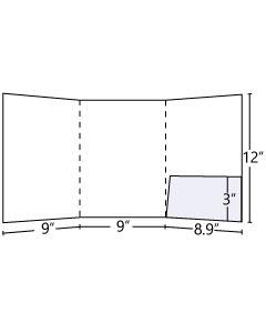 Tri -Panel Folder (Inside Right Pocket) 9x12