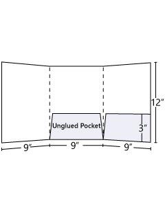 Tri - Panel Pocket Folder (Central + Inside Right)