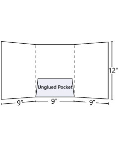 Tri - Panel Folder with Central pocket (Unglued) 9x12