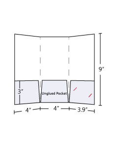 4x9 Tri Panel Pocket Folder