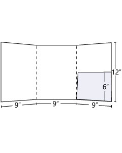 Tri-Panel Pocket Folder with 6 inch inside right pocket