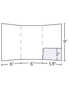 6x9 Tri Panel Pocket Folder