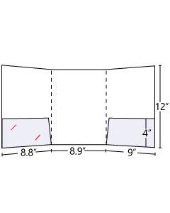 Tri-Panel Pocket Folder (Inside Left+Right)