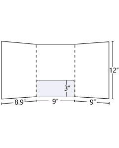 Tri Panel Folder with Curved Central pocket (Glued) 9x12