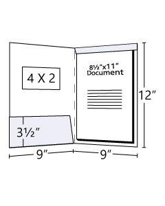9x12 Fold Down Tab Tax Folder with Window