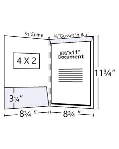 8.75x12 Fold Down Tab Tax Folder with Window