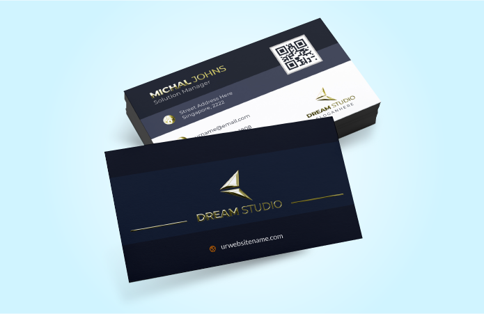 Luxury Business Cards Matte - Soft Touch Lamination + Foil / Raised Spot UV