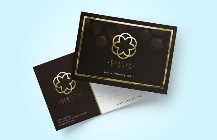Luxury Business Cards - Gloss Lamination + Foil / Raised Spot UV